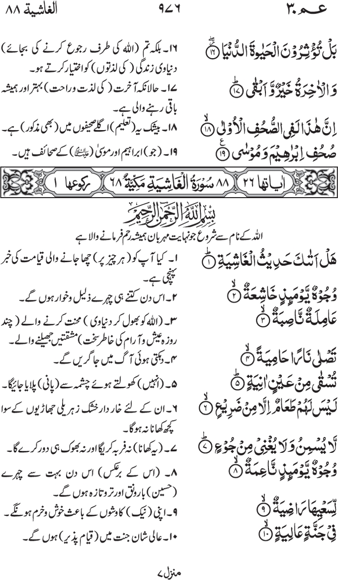 Surah Ghashiyah Related Keywords & Suggestions - Surah