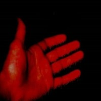 blood red hand