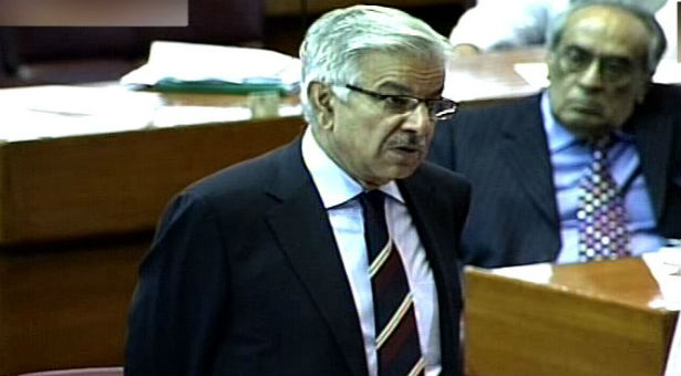Image result for خواجہ آصف پارلیمنٹ میں