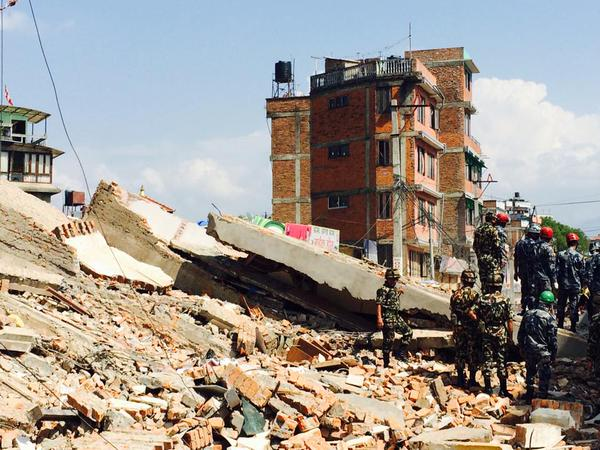 A four-storey building collapsed in Nayabazar
