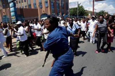 African Government Opposition Demonstrations