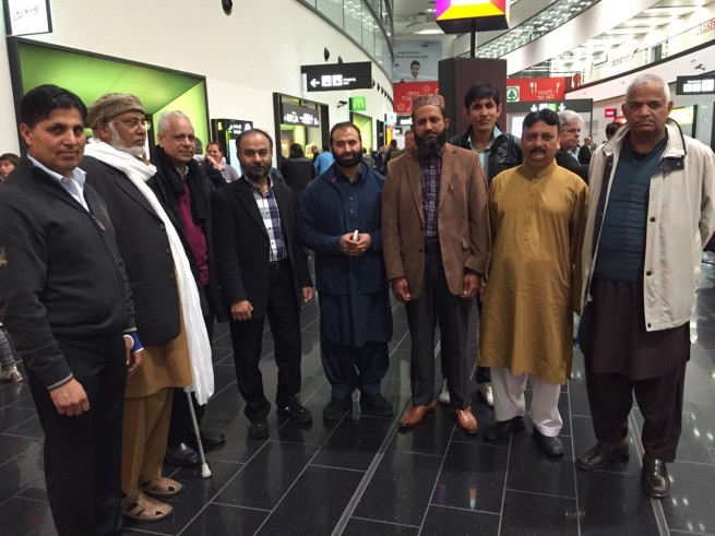 Allama Abdul Latif Chishti Azhari Vienna Airport  Welcoming