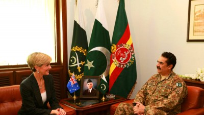 Army Chief And  Julie Bishop Met