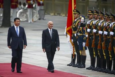 Ashraf Ghani and Xi Jinping