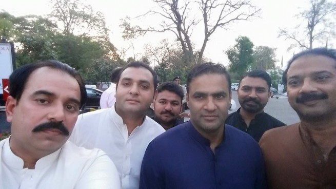 Chaudhry Khalid with Abid Sher Ali