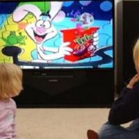 Children Watch Cartoon