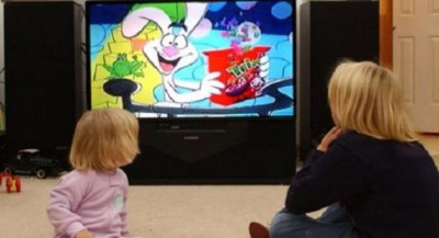 Children Watch Cartoon