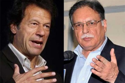Imran Khan and Pervez Rashid
