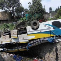 Indonesia Truck Ditch Falling