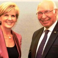 Julie Bishop And Sartaj Aziz