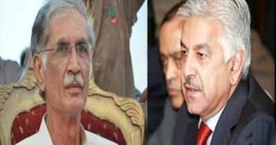 Khwaja Asif  And Pervez Khattak Meating