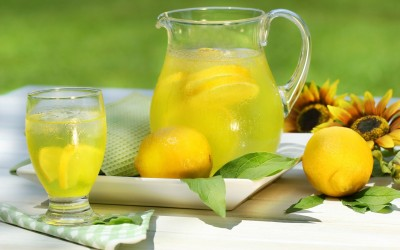 Lemon Juice Jug Glass