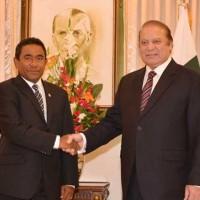 Nawaz Shrif And Maldives President