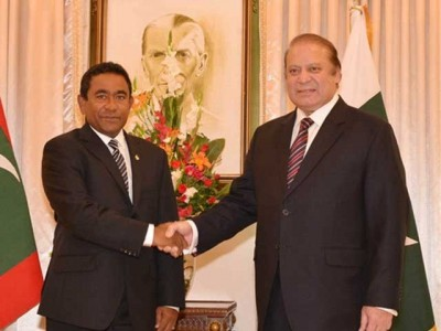Nawaz Shrif And Maldives President