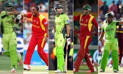 Pakistan And   Zimbabwe Cricket Players