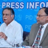 Pervaiz Rashid and Ahsan Iqbal