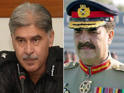 Raheel Sharif and Ghulam Haider