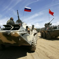 Russia,China, Military Exercise