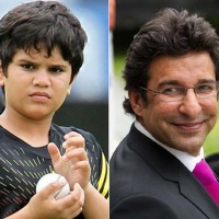 Wasim Akram and Arjun