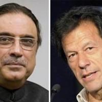 Asif Zardari and Imran Khan