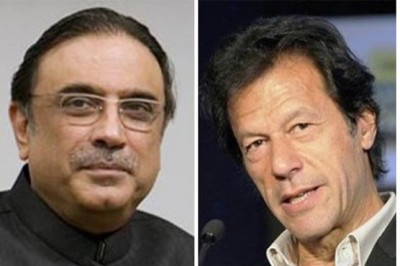 Asif Zardari and Imran Khan