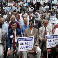 Former Indian Soldiers Protest