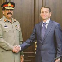 General Raheel Sharif and Sergey Naryshkin