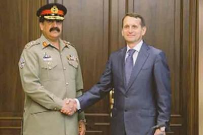 General Raheel Sharif and Sergey Naryshkin