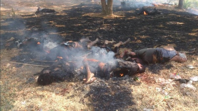 Muslim Children Were Burnt Alive In Meiktila - Burma