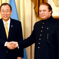 Nawaz Sharif And Ban Moon Met