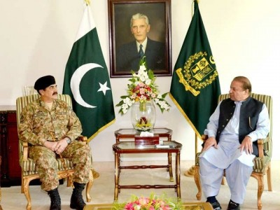 Nawaz Sharif And  Raheel Sharif Meeting