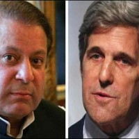 Nawaz Sharif and John Kerry