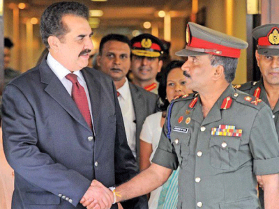Pak Army Chief And Sri Lankan Army Chief