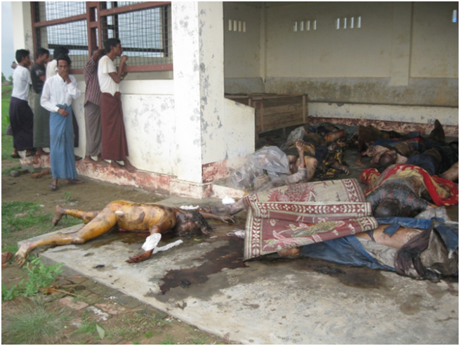 Rohingya dead bodies in Arakan