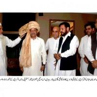 Sardar Mehtab Ahmed Khan Tribal Leaders Cultural Turban Worn
