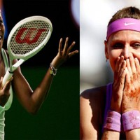 Serena Williams and Lucie Safarova