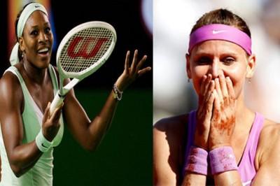 Serena Williams and Lucie Safarova
