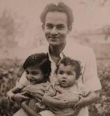Ahmad Ali Khan with Son