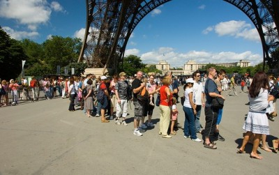 France People in Eiffel Tower