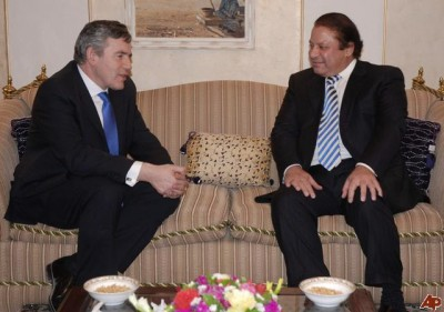 Gordon Brown and Nawaz Sharif