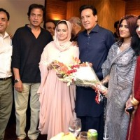Javeed Sheikh with Artist