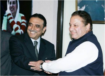Nawaz Sharif and Asif Zardari