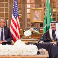 Obama and Salman Bin Abdul Aziz