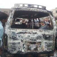 Passenger Van Fire (1)