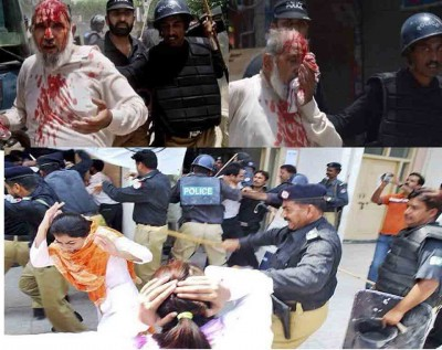Punjab Police Beating People