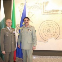 Raheel Sharif And Italy Army Chief