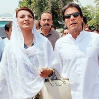 Reham Khan and Imran Khan