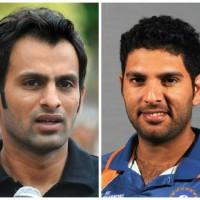 Yuvraj Singh and Shoaib Malik