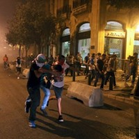 Beirut Potesters And Security Forces Clash