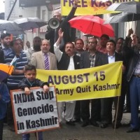 Belgium Kashmiris India Against Protest